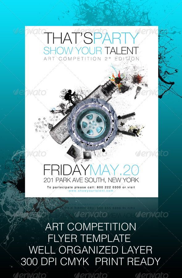 Show Your Talent - Art Competition Modern, Flyers and Tags - competition flyer template