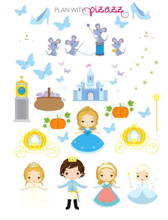 You will receive one sheet of matte finish die cut stickers. This sheet includes Super cute CINDERELLA DECO stickers!  These stickers fit