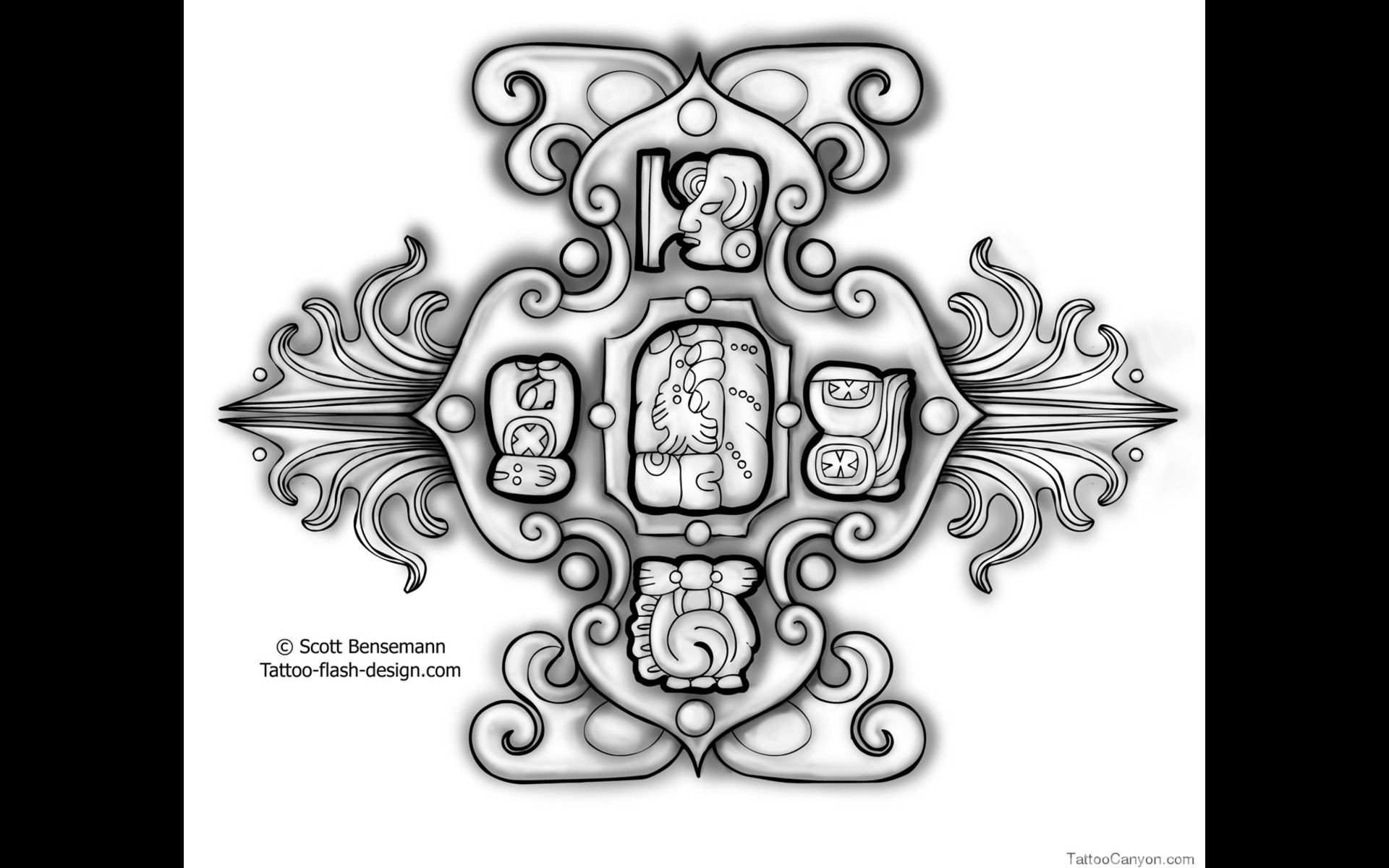 Free tattoo template mayan compass tattoo tattoo flash