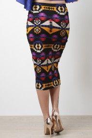 Tribal Dip Skirt