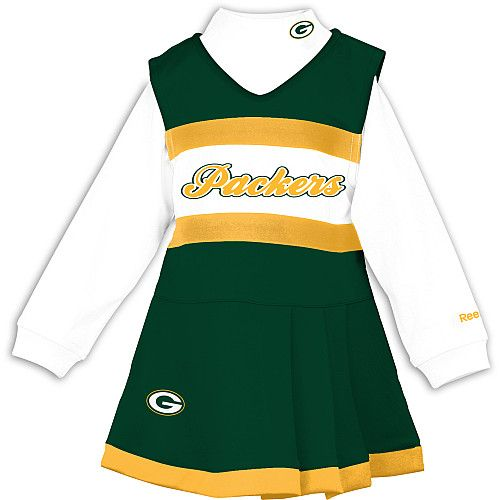5c7fe9a2a Reebok Green Bay Packers Toddler (4-6x) Cheer Uniform