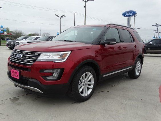 New 2016 Ford Explorer Xlt Red Suv Serving Victoria Corpus