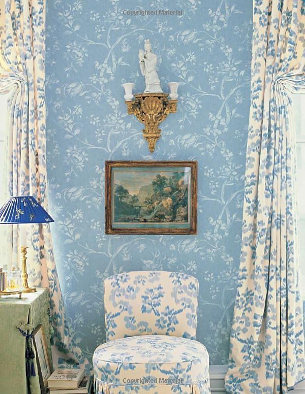 Charlotte moss kips bay bedroom just bedrooms blue - Wallpaper store charlotte nc ...
