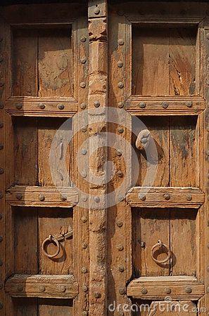 Perfect Closeup Of Brown Indian Wood Door Stock Photo   Image Of Faith, Door:  69891662