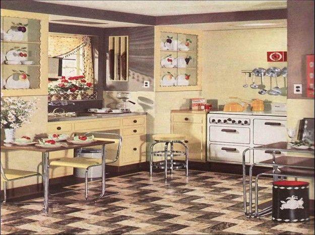 Cucine vintage Anni \'50 - Cucina chiara retrò   Vintage és Cucina