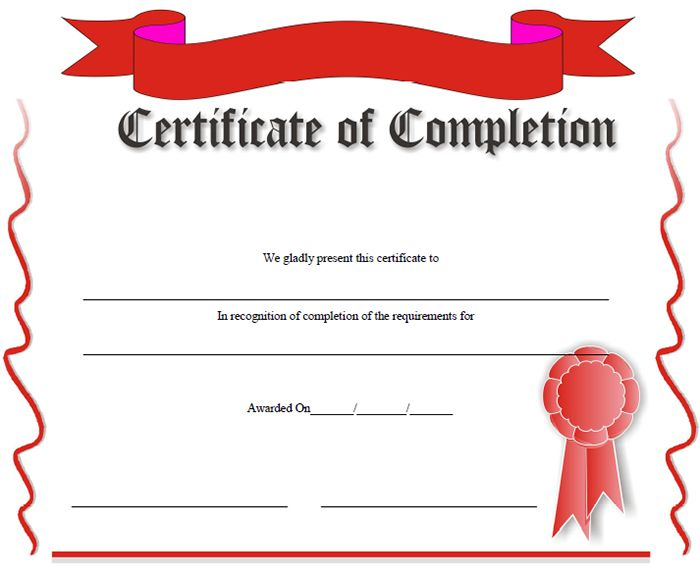 37 Certificate Of Completion Templates Certificate Of