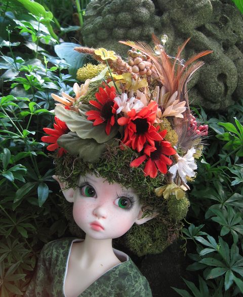 How to make moss hats and wigs polymer clay doll