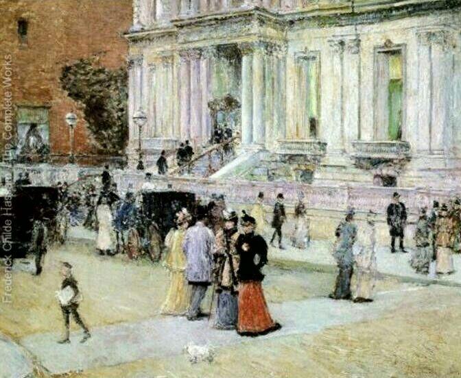 The Manhattan Club (The Stewart Mansion) ~ Childe Hassam, c. 1891