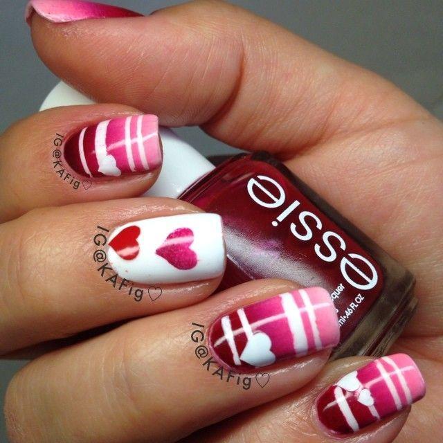 Valentine Heart Nail Design #nail #nails #nailart