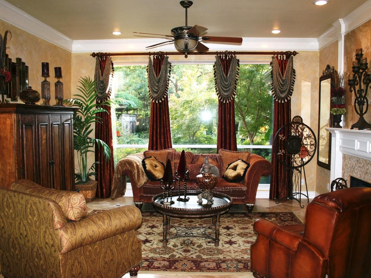 Traditional Living Room With Velvet Sofa And Old World Rug Living Room Decor Traditional Transitional Living Room Design Living Room Photos #warm #traditional #living #room