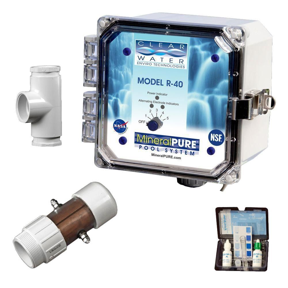 Mineral Pure 40,000 Gal. Residential Swimming Pool Ionizer-R ...