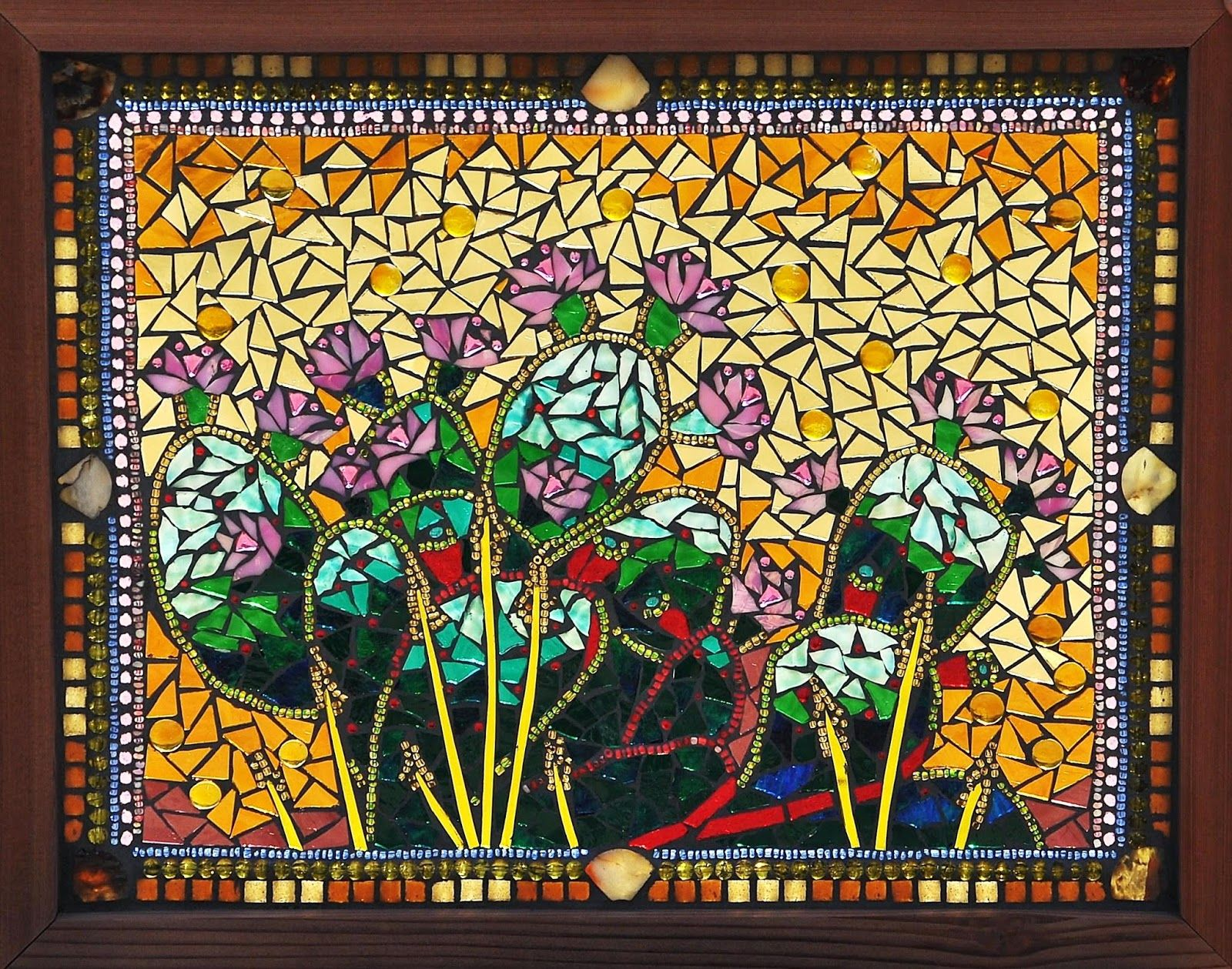 Kathleen Dalrymple Gl Artist Basking In The Sunlight On Mosaic Stained