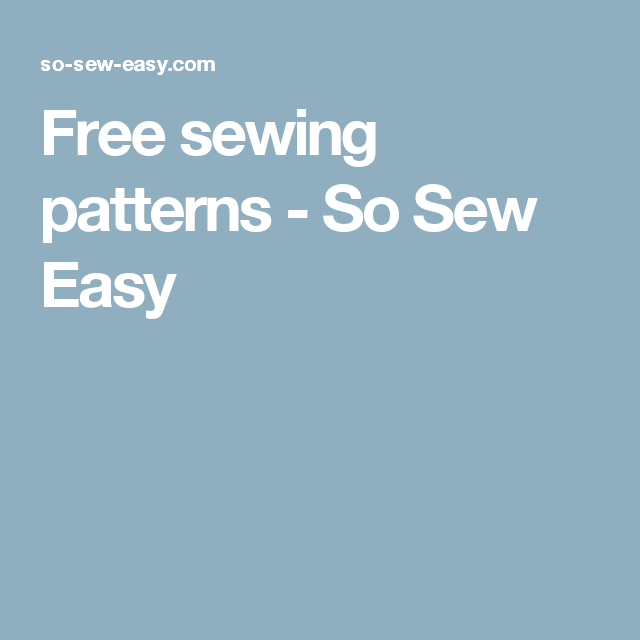 Free sewing patterns | Pinterest | Sewing patterns, Patterns and Easy