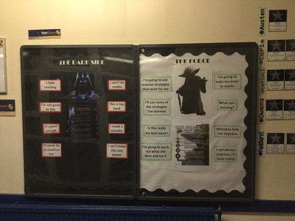 Star Wars growth mindset display via @mcd8ta