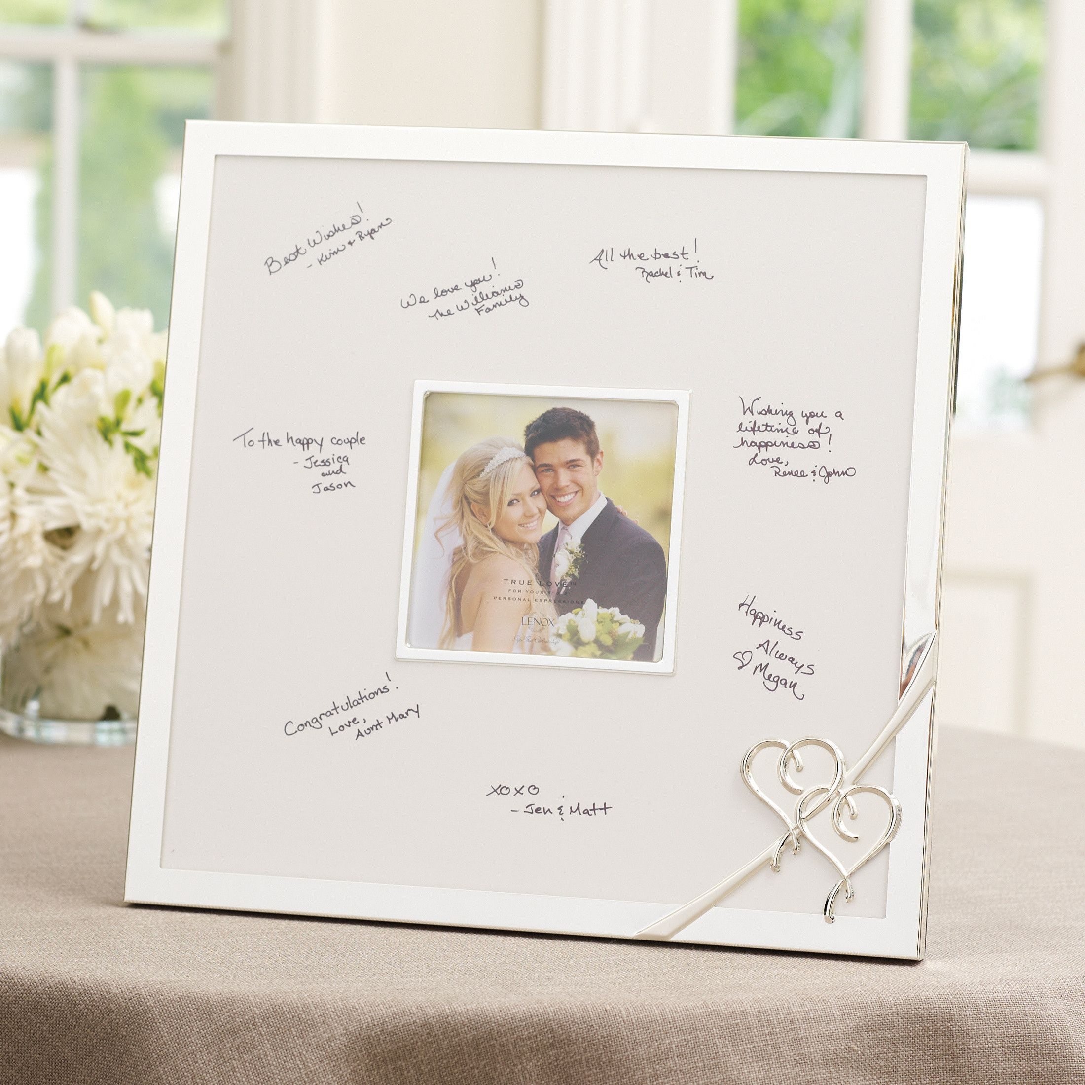 lenox true wedding guest book frame wedding guest book