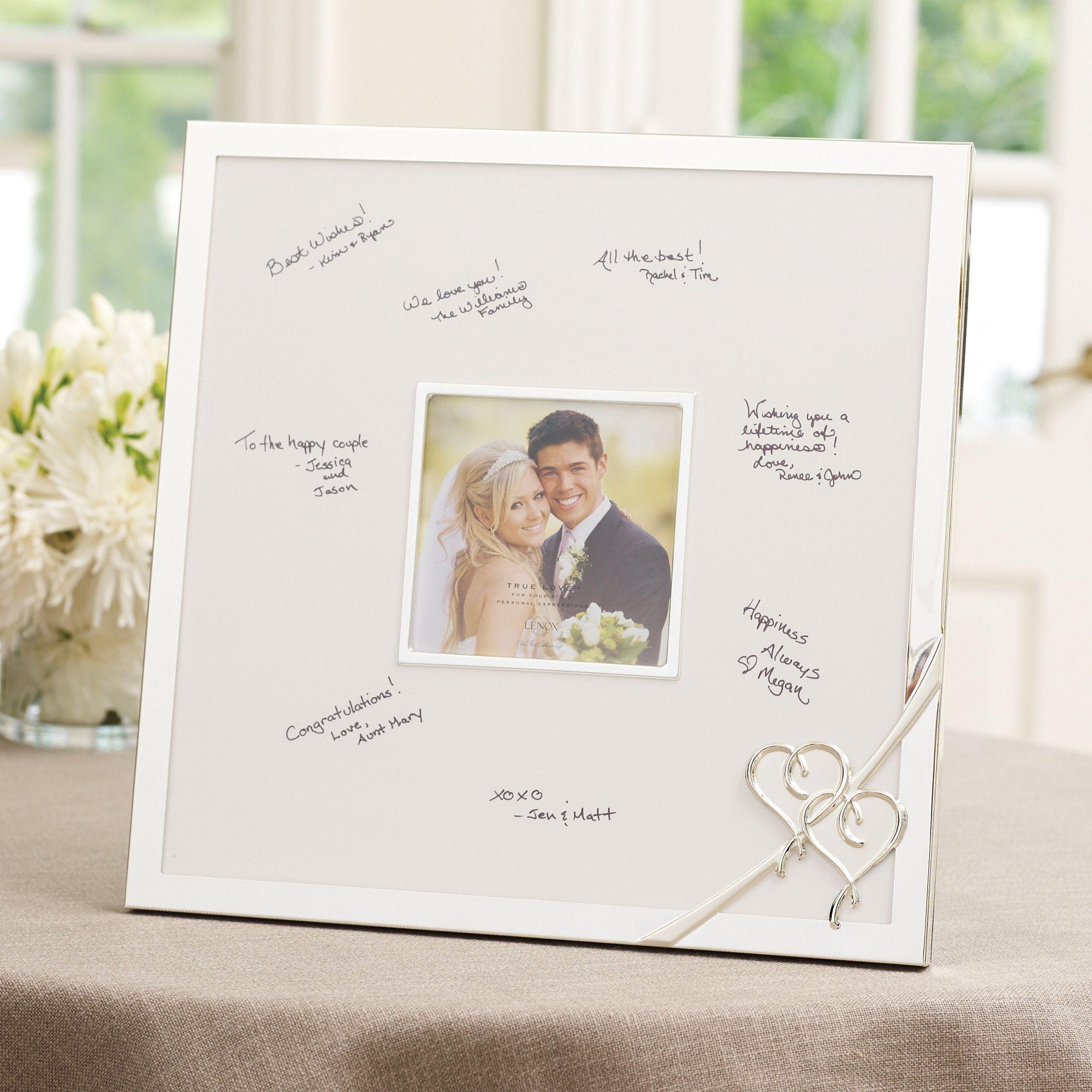 Lenox True Love Wedding Guest Book Frame | Wedding Guest Book Frame ...