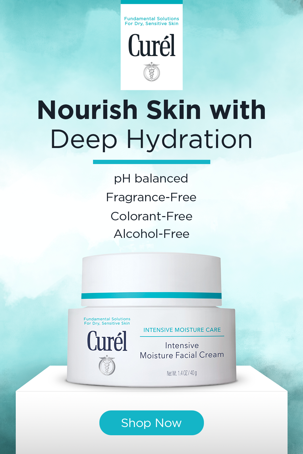 Free of any fragrance, colorants and alcohol, the Curél