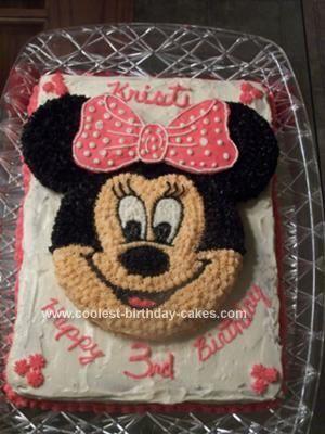 Homemade Minnie Mouse Birthday Cake cakepinscom Minnie Mouse