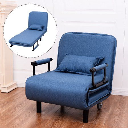 Costway Convertible Sofa Bed Folding Arm Chair Sleeper Leisure Recliner Walmart Com Modern Sofa Bed Couch Furniture Living Room Recliner