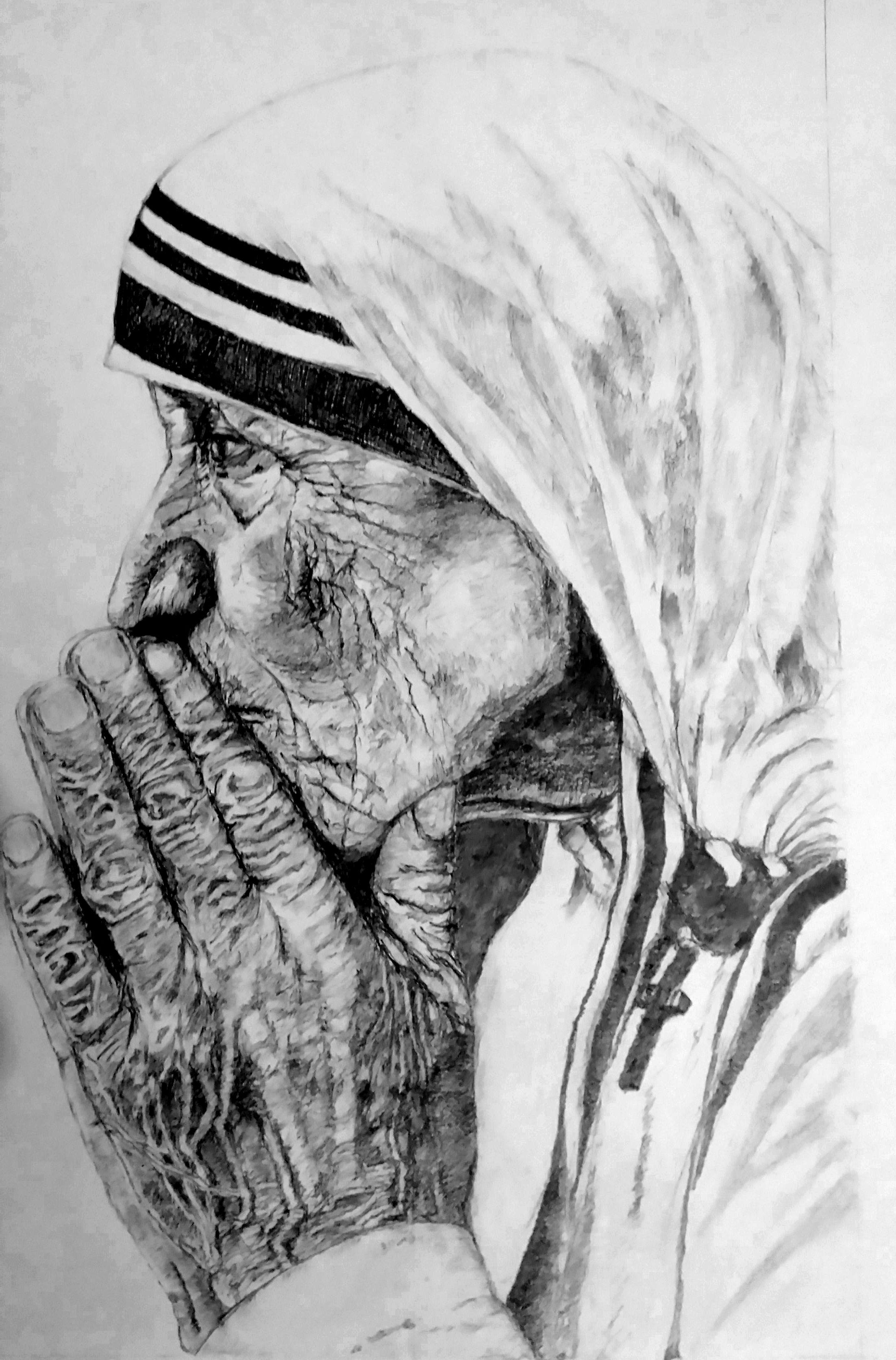 Saint of gutters mother teresa mother teresa santos christ drawings