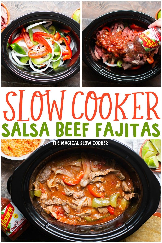Slow Cooker Salsa Beef Fajitas - The Magical Slow Cooker