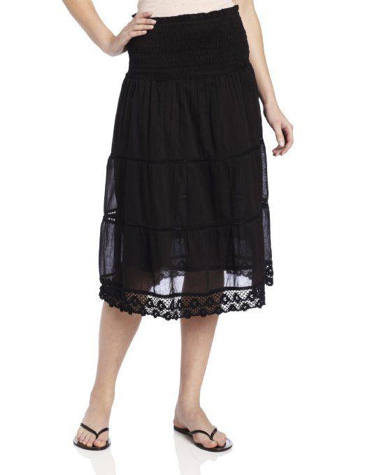 Amazon.com: Chaudry Women's Crochet Trim Skirt: Clothing