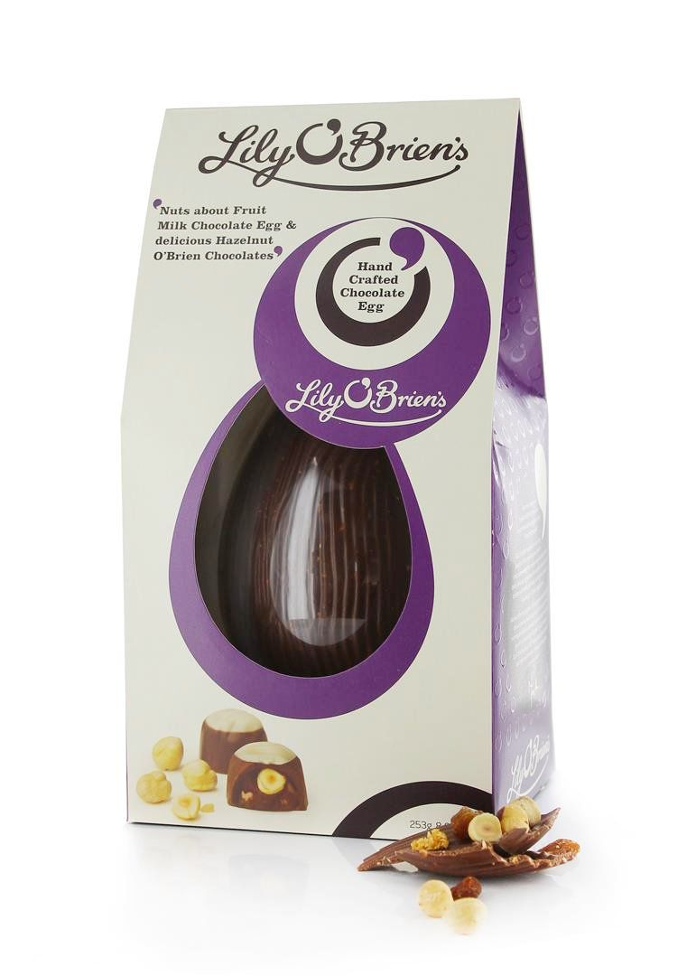 Nuts about fruit egg with hazelnut obrien chocolates 253g chocolate by irish chocolatier lily obriens order your chocolate gifts online for delivery by courier or post choose from assorted chocolate boxes negle Gallery