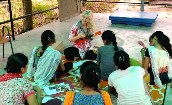 NON PROFIT to FOLLOW: Survivor Girl Ukulele Band Project in India teaches Ukulele to young women rescued from human trafficking