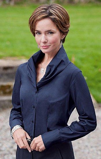 9c281973f72cbf Seidensticker Ladies Shawl Collar Blouse from House of Bruar ...
