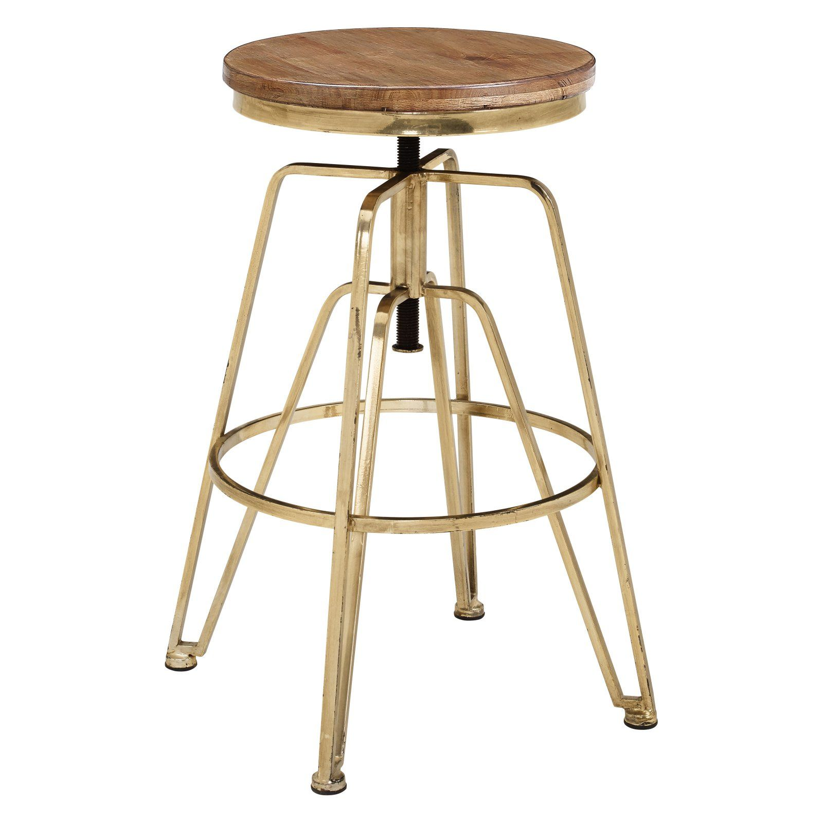 Super Linon Wood And Metal Adjustable Bar Stool In 2019 Products Pdpeps Interior Chair Design Pdpepsorg
