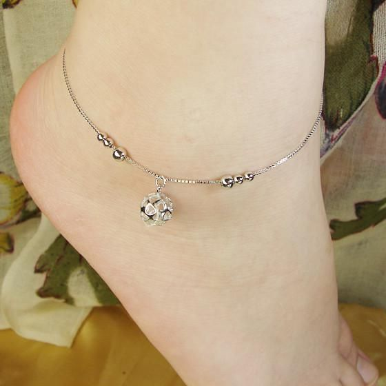 Silver Anklets Sterling Silver Anklets Silver Bells Ball Pendant 2013 New Simple Fashion Online with $24.72/Piece on Haiquanlai's Store | DHgate.com