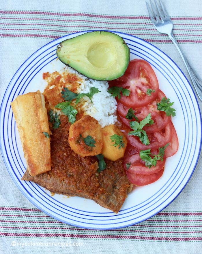 Sobrebarriga Sudada - Flank Steak Stew (Colombia)
