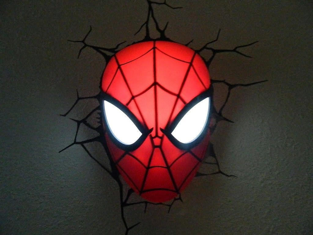Spiderman Face Lamp Spiderman Face Lamp Creative Lamps