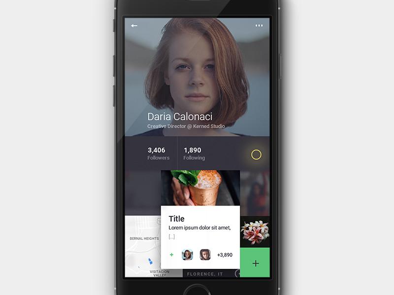 Social App Profile UI + UX by Dario Calonaci