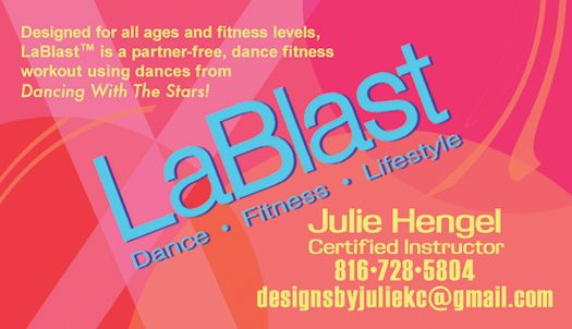 Lablast Dance Fitness Lifestyle Dance Fitness Lifestyle Business Card Designed By Suzanne Bundy Overland Park Ks Business Card Design Dance Workout Cards