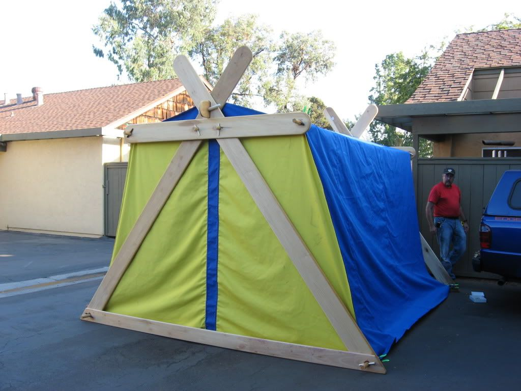 This is what the modified a frame looks like with the for How to build a canvas tent frame