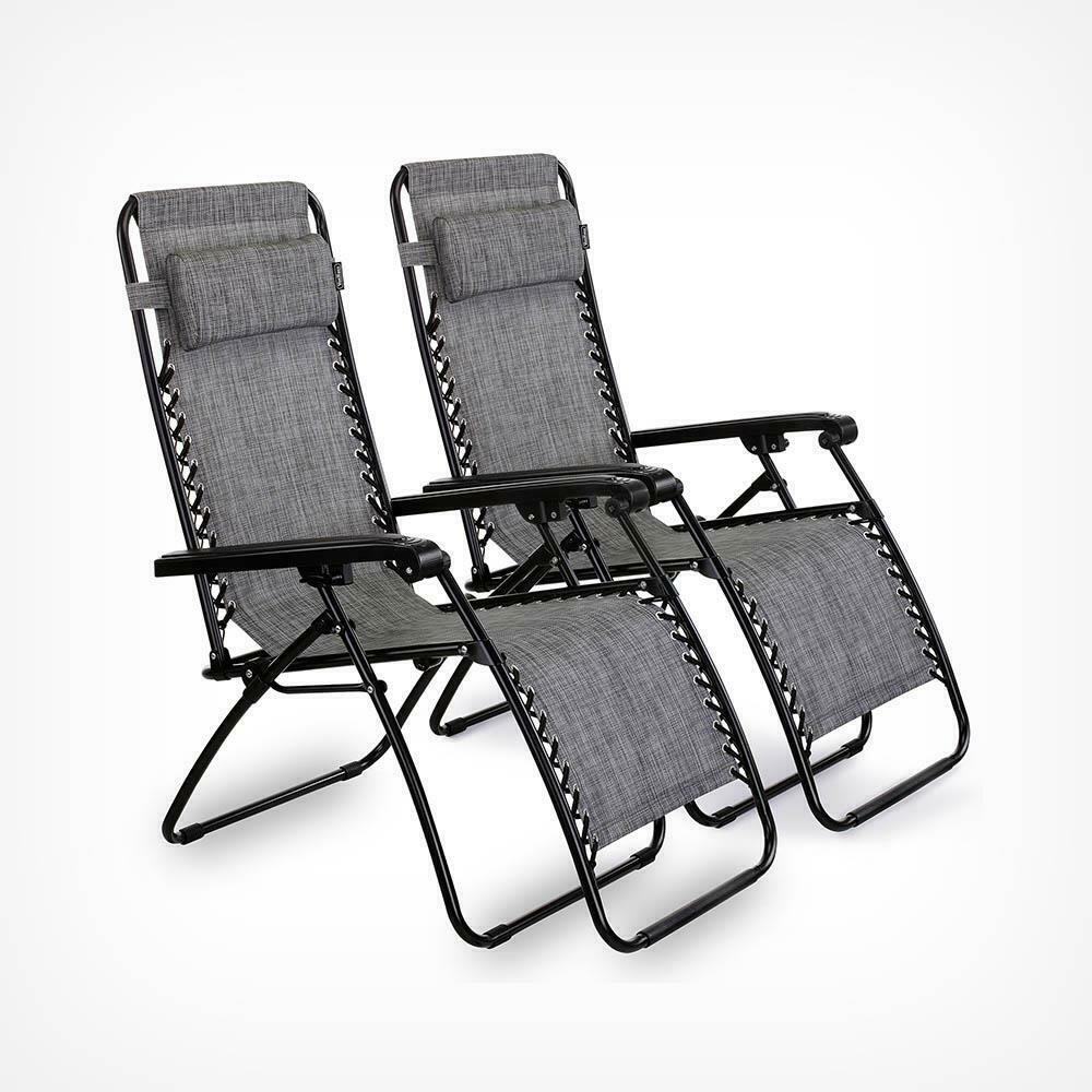 Textoline Zero Gravity Chairs Garden Outdoor Patio