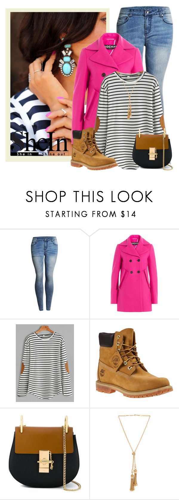 """Sin título #2098"" by miushka ❤ liked on Polyvore featuring Rochas, Timberland and Chloé"