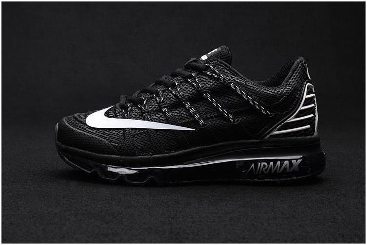 Latest Nike Air Max 2016 II Sneakers Nano TPU Material All Black Mens  Running Shoes Online