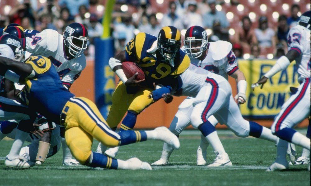 Creating The All Time Rams Roster Running Back Running Back Eric Dickerson Los Angeles Rams
