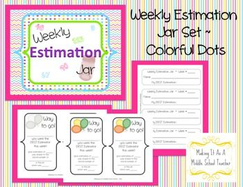This set will help you manage your estimation jar/center in your classroom.*Classroom Display Sign for your Estimation Jar/Center*Student Wee...$2.00