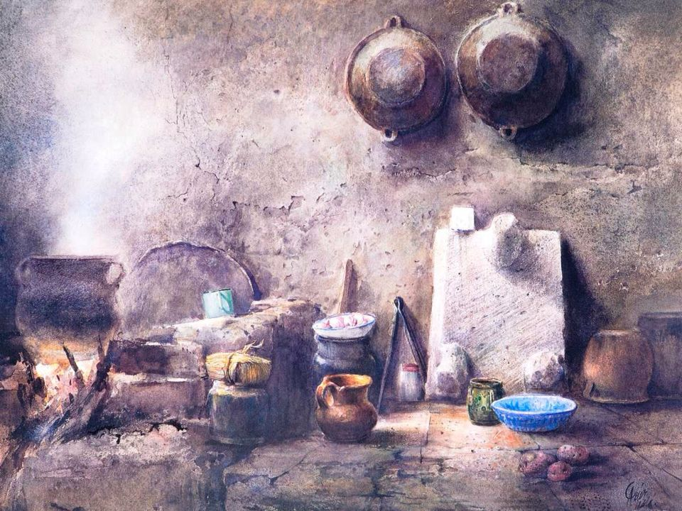 Watercolor by Ricardo Pérez Alcalá. | Painting, Watercolor ...