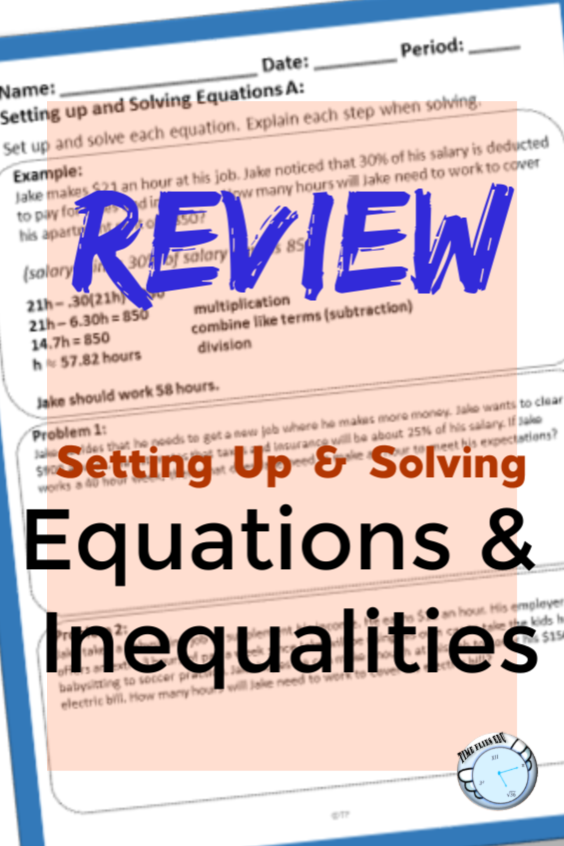 Solving Equations and Inequalities (With images) Solving