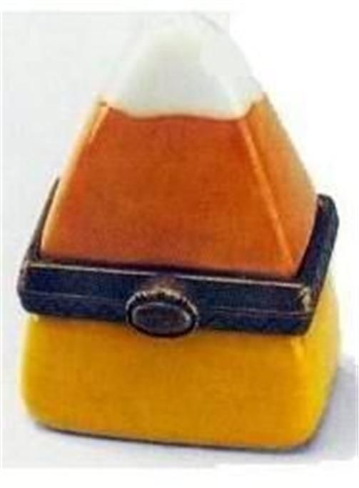 Porcelain Hinged Box Candy Corn MIB