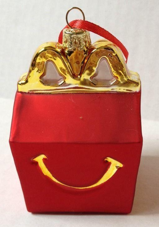 Mcdonalds Christmas Ornament.Mcdonald S Happy Meal Box Christmas Ornament Collectable Festive