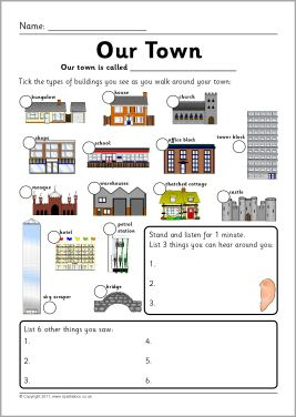 Our Town Village City Observation Sheets Sb3922 Our Town Teaching Resources Primary English Worksheets For Kids City worksheets for kindergarten