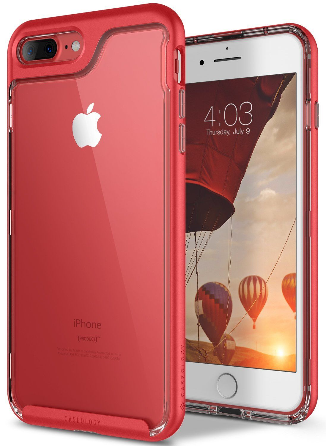 Caseology Skyfall Series Iphone 7 Plus 8 Cover Case With Baseus Air Macbook Pro 13 Inch 2016 Transparent Clear Hard Slim Protective For Apple 2017 Red