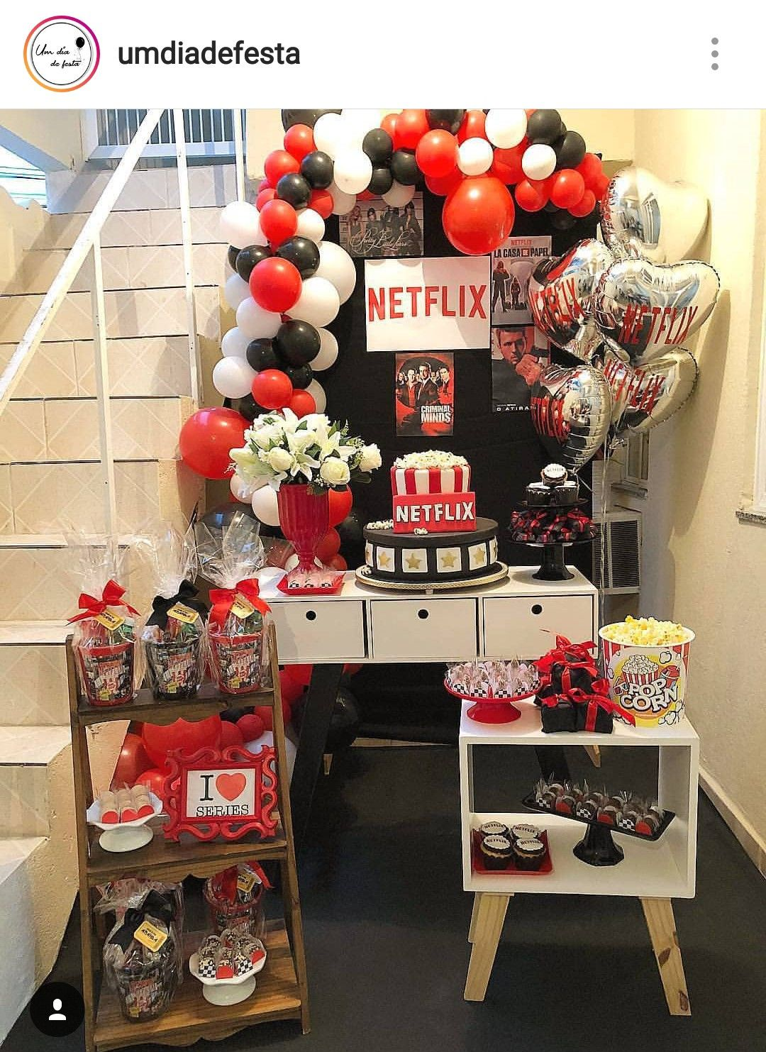 Netflix Theme Dessert Table And Decor In 2019 Adult