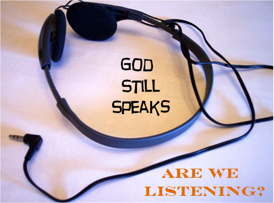 God still speaks, are we listening?  The sigh of Jesus...think about it...
