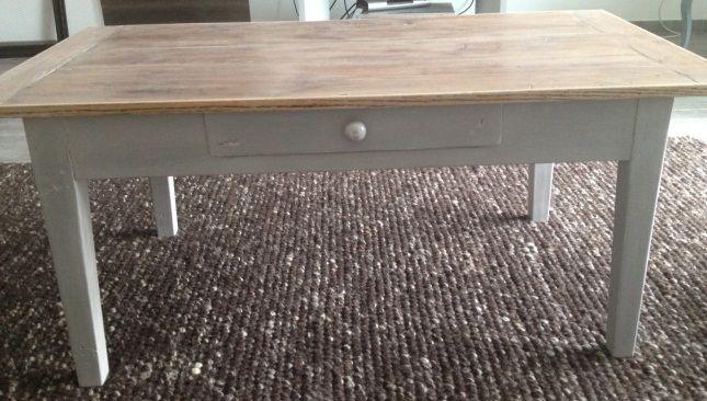 table basse de salon apr s relooking home made. Black Bedroom Furniture Sets. Home Design Ideas